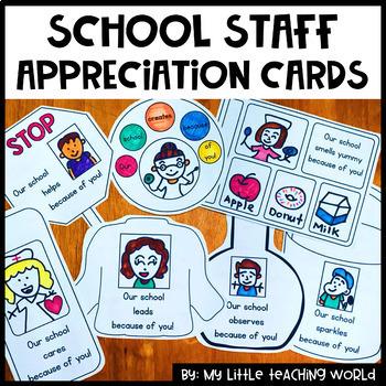 School Staff Appreciation Cards