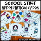 School Staff Thank You Cards (Teacher Appreciation Week)