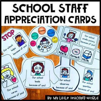 Staff Morale Boosters Thank You Cards For Teacher Appreciation Week