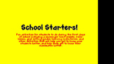 School Starters!