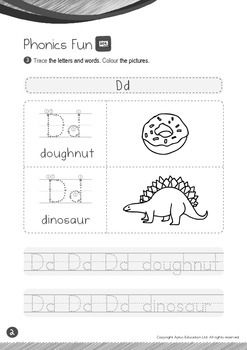 School - Stationery (IV): Letter D - Kindergarten, K2 (4 years old)