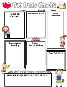 School Stick Kids Classroom Newsletter