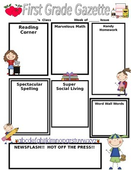 School Stick Kids Classroom Newsletter