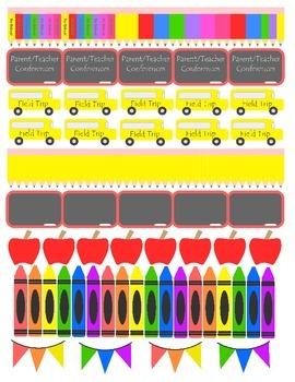 School Sticker Printable