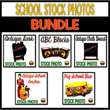 School Stock Photo Images for TpT Sellers Bundle