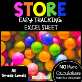 Class Store -OR- School Store Tracking Excel Sheet EDITABLE!