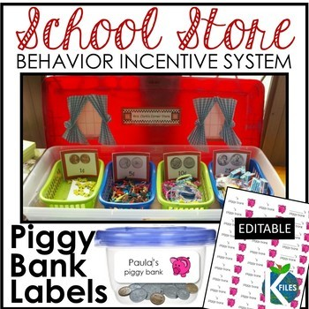School Store and Piggy Bank Behavior Incentive System