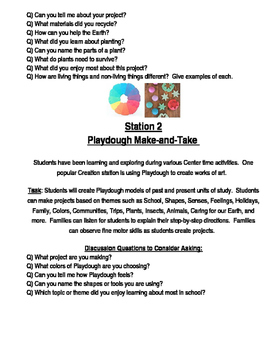 School Student-Led Gallery Walk Activity Station Task Cards and Invitation