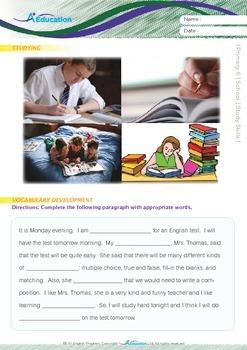 School - Study Skills - Grade 6
