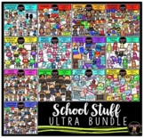 School Stuff Clip Art Ultra Bundle {Educlips Clipart}