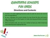 School Stuff Fun Cards - Counting and Quantitative Concepts