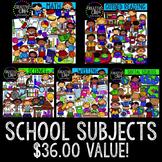 School Subject Bundle {Creative Clips Digital Clipart}