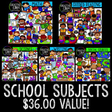 School Subject Bundle {Creative Clips Digital Clipart}