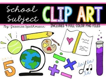 School Subject Clip Art Bundle