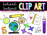 School Subject Clip Art Bundle