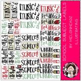 School Subject Labels clip art - by Melonheadz
