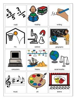 School Subject Picture Symbols