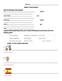School Subject Worksheet