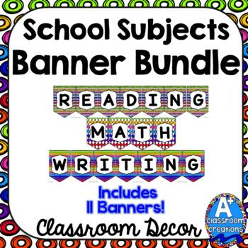 School Subjects Banner Bundle