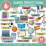School Subjects Clip Art - Icons