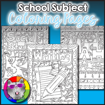 School Subjects Coloring Pages