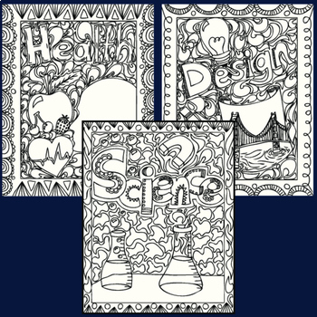 School Subjects Coloring Pages Zen Doodles