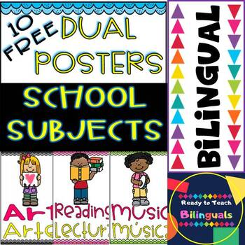 School Subjects - Free Dual Posters - #10 Posters