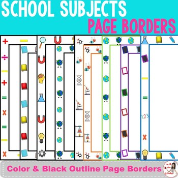 School Subjects Page Borders