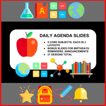 School Subjects Powerpoint Templates