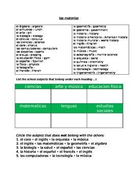 School Subjects SPN