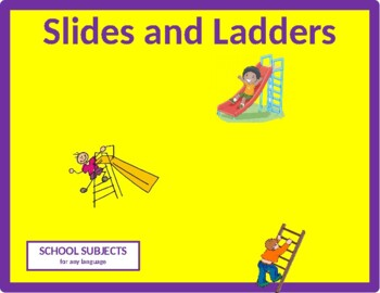School Subjects Slides and Ladders Game