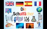 School Subjects in German.
