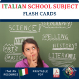 School Subjects in Italian Word Wall/Flash cards