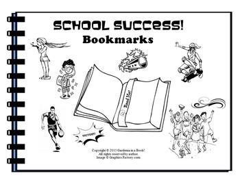 Success Bookmarks! (black & white)