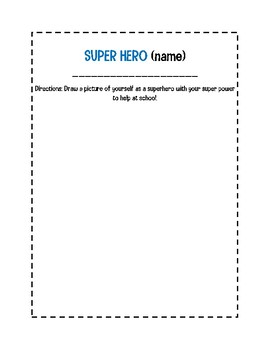 School Super Hero (Helping Others at School)