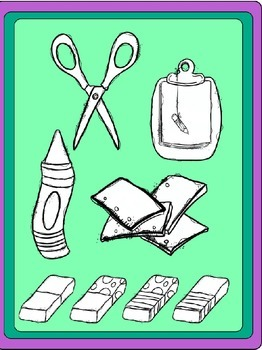 School Supplies 1 Clipart (Embellish Yourself Artworks)