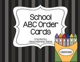 School Supplies ABC Order {Back-to-School Literacy Center}