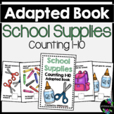 School Supplies Adapted Book (Counting 1-10)