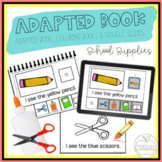 School Supplies Adapted Book & Student Book for Early Chil