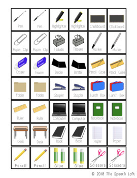 School Supplies Adaptive Game Set