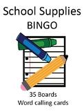 School Supplies BINGO!