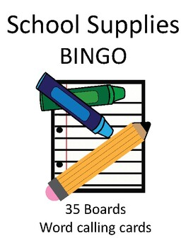 School Supplies BINGO!