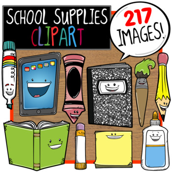 School Supplies / Back to School Clip Art