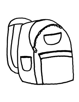 School Supplies Backpack