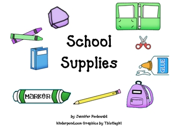 School Supplies- Big Book