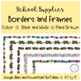 School Supplies Borders and Frames for Google Slides & 8.5