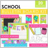 School Supplies Bulletin Board Kit | Classroom Decor