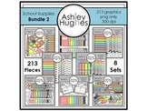 School Supplies Clipart Bundle 2 {A Hughes Design}