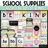 School Supplies Classroom Decor  - Editable!