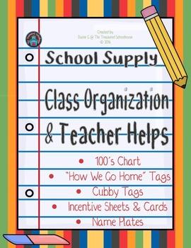 School Supplies Classroom Organization